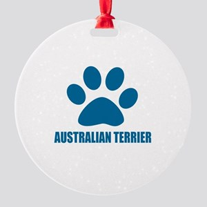 Australian Terrier Dog Designs Round Ornament