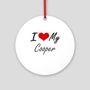 I love my Cooper Round Ornament