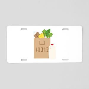 Groceries Aluminum License Plate