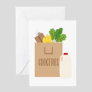Groceries Greeting Cards