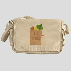 Groceries Messenger Bag
