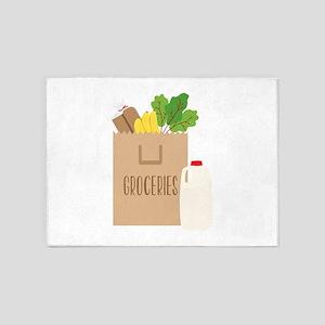 Groceries 5'x7'Area Rug