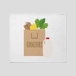 Groceries Throw Blanket