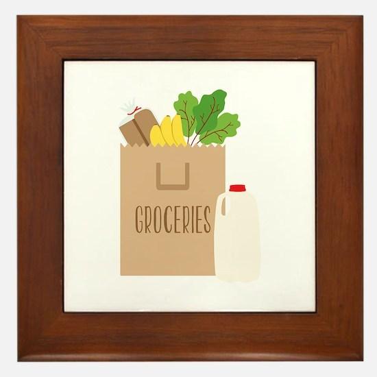 Groceries Framed Tile