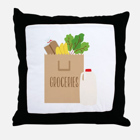 Groceries Throw Pillow