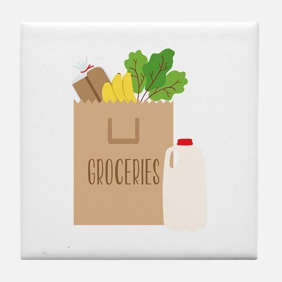 Groceries Tile Coaster