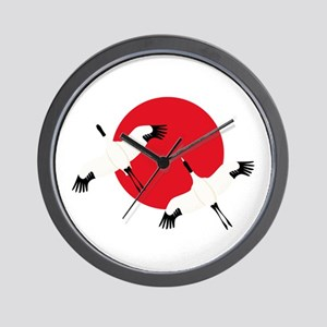 Flying Crane Wall Clock