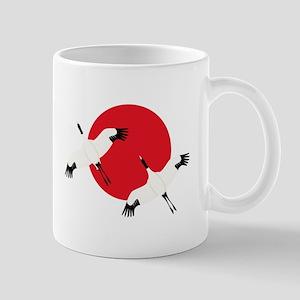 Flying Crane Mugs