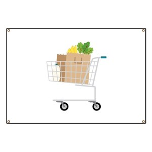 Shopping Cart Banners Vertical Ribbon Banners