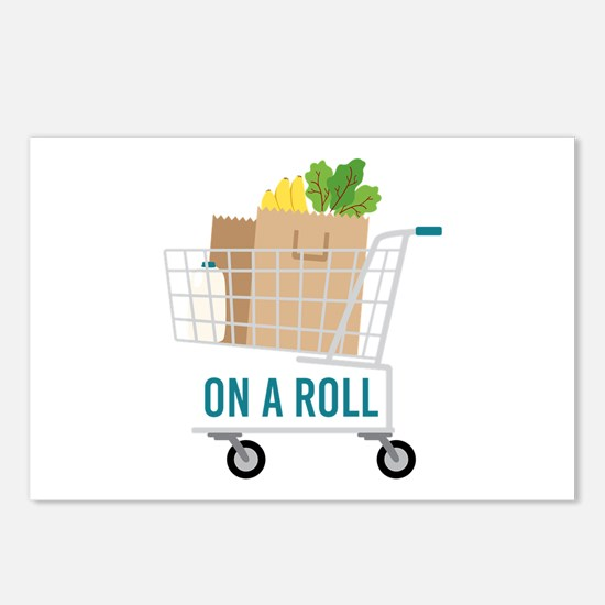 On A Roll Postcards (Package of 8)