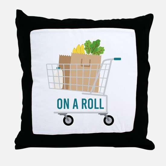 On A Roll Throw Pillow
