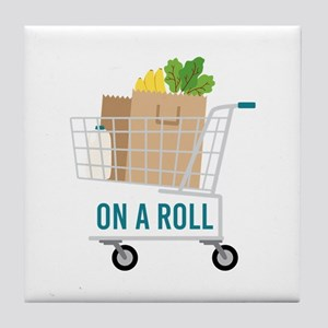On A Roll Tile Coaster