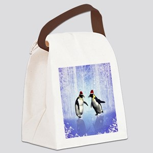 Dancing for christmas Canvas Lunch Bag
