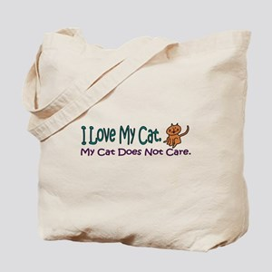 I Love My Cat... Tote Bag