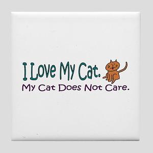 I Love My Cat... Tile Coaster