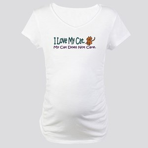 I Love My Cat... Maternity T-Shirt