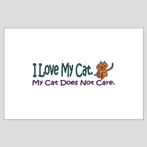 I Love My Cat... Large Poster