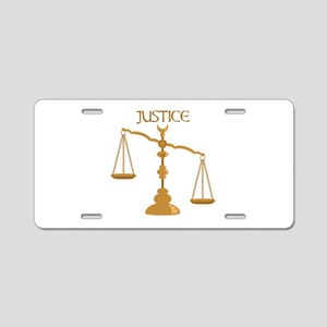 Justice Aluminum License Plate