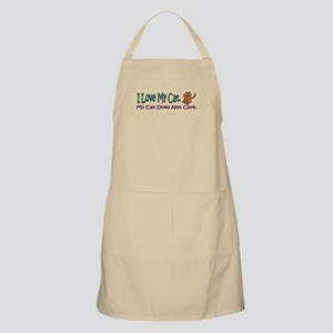 I Love My Cat... BBQ Apron