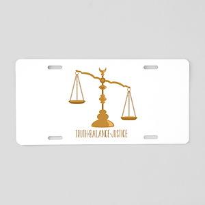 Truth Balance Justice Aluminum License Plate