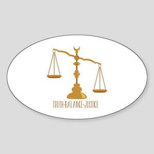 Truth Balance Justice Sticker
