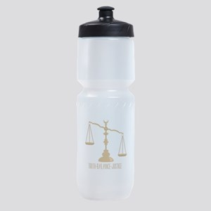 Truth Balance Justice Sports Bottle