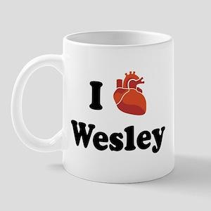 I (Heart) Wesley Mug