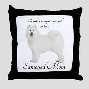 Samoyed Mom Throw Pillow