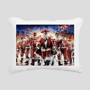 Multiple Personalities Santa Rectangular Canvas Pi