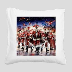 Multiple Personalities Santa Square Canvas Pillow