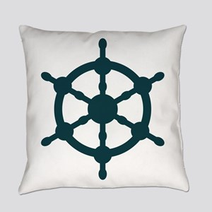 Ship Wheel Everyday Pillow