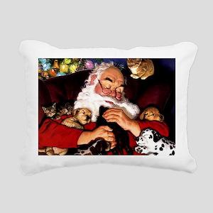 Santa Sleeping Rectangular Canvas Pillow