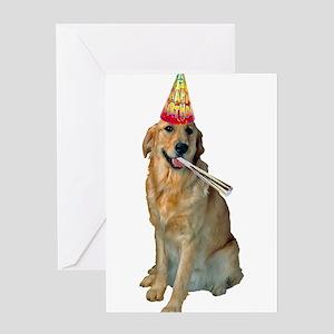Golden Retriever Birthday Greeting Cards
