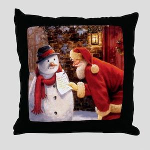 Santa Reading Note Throw Pillow
