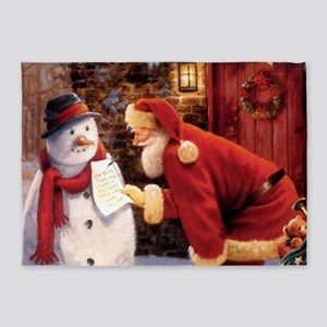 Santa Reading Note 5'x7'Area Rug