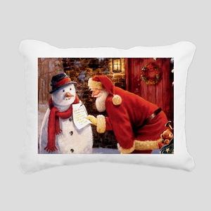 Santa Reading Note Rectangular Canvas Pillow