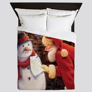Santa Reading Note Queen Duvet