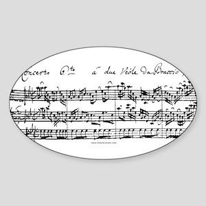 Bach's Brandenburg 6 Concerto Sticker