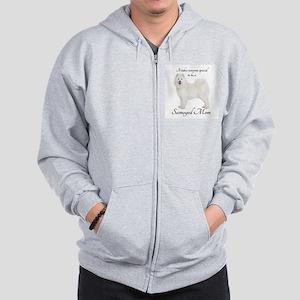 Samoyed Mom Zip Hoodie