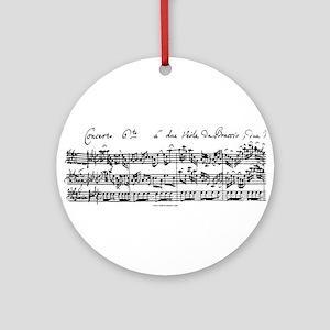 Bach's Brandenburg 6 Concerto Round Ornament