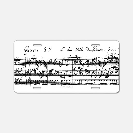Bach's Brandenburg 6 Concerto Aluminum License Pla