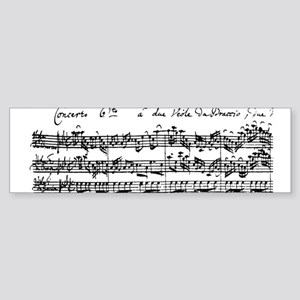 Bach's Brandenburg 6 Concerto Bumper Sticker
