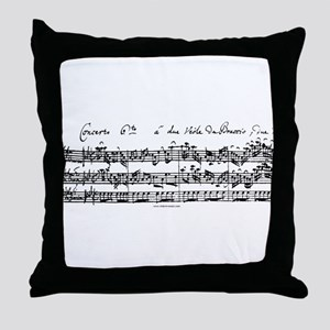 Bach's Brandenburg 6 Concerto Throw Pillow