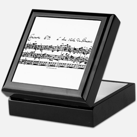 Bach's Brandenburg 6 Concerto Keepsake Box