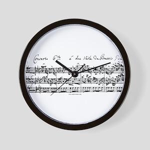 Bach's Brandenburg 6 Concerto Wall Clock