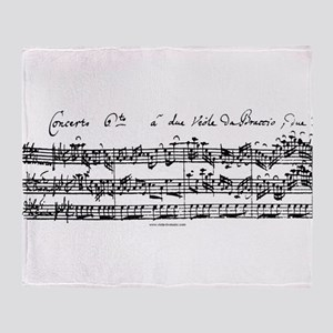 Bach's Brandenburg 6 Concerto Throw Blanket