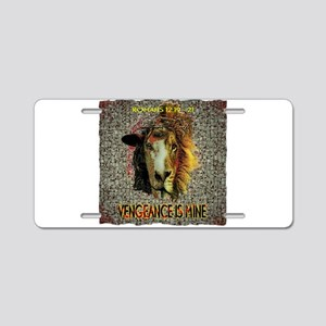 VENGEANCE IS MINE Aluminum License Plate
