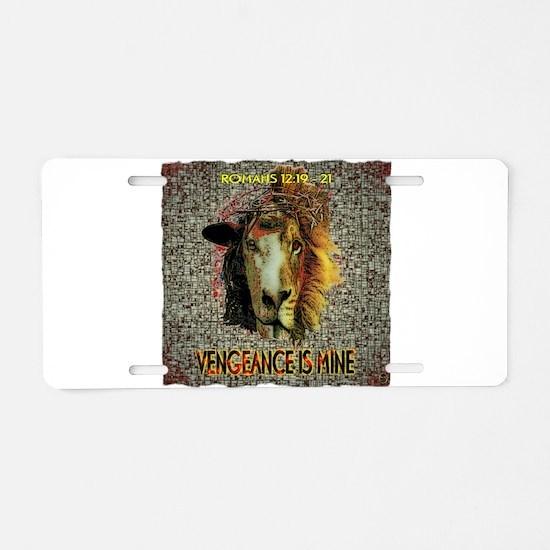 VENGEANCE IS MINE Aluminum License Plate
