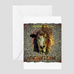 VENGEANCE IS MINE Greeting Cards
