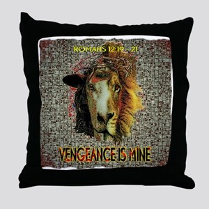 VENGEANCE IS MINE Throw Pillow